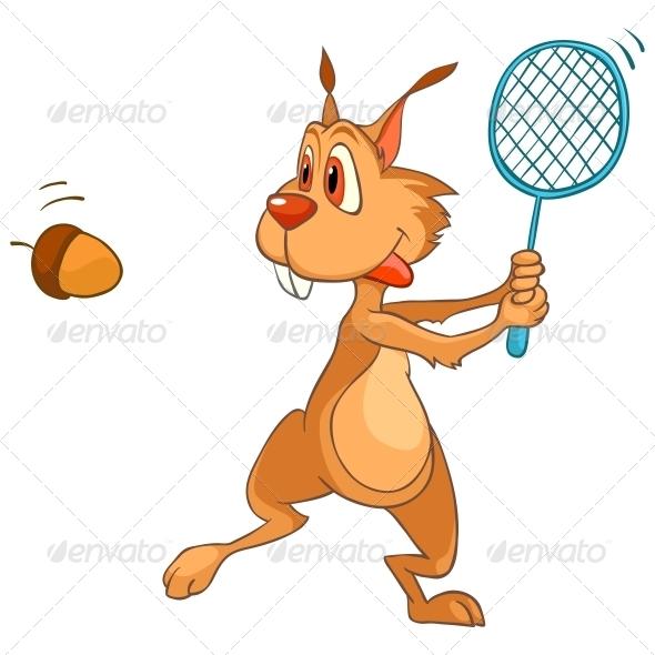 Cartoon Character Squirrel - Animals Characters