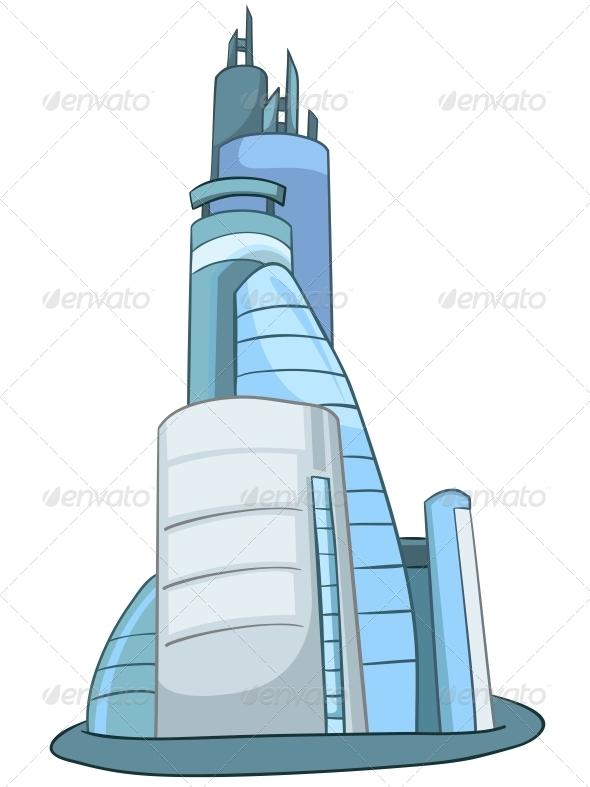 Cartoon Skyscraper - Buildings Objects