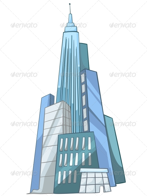 Cartoon Skyscraper - Buildings Objects