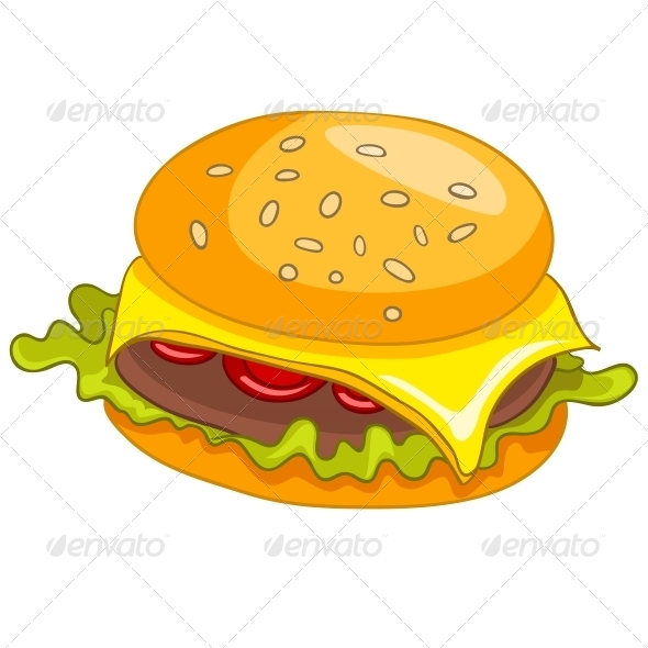 Cartoon Food Hamburger - Miscellaneous Characters