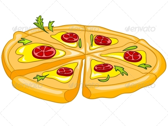 Cartoon Food Pizza - Miscellaneous Characters
