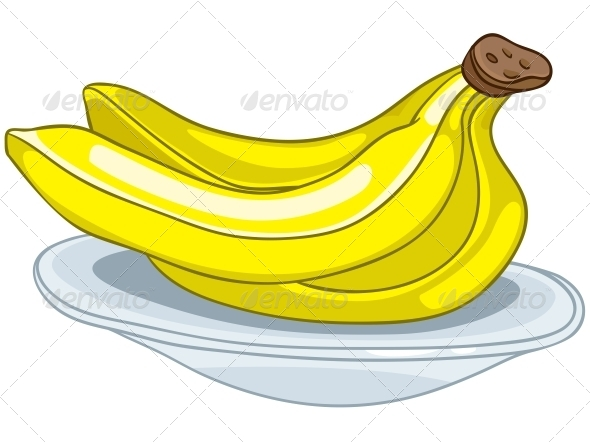 Cartoon Food Fruit Banana - Miscellaneous Characters