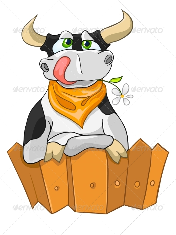 Cartoon Character Cow - Miscellaneous Characters