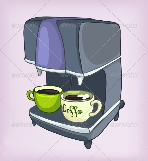 Cartoons Home Appliences Coffee Maker - Miscellaneous Characters