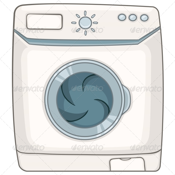 Cartoon Appliances Washing Machine - Miscellaneous Characters