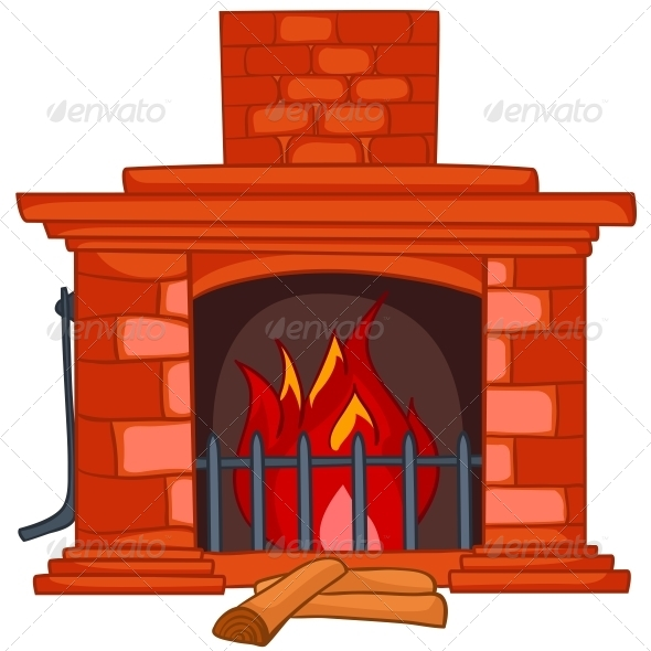 Cartoon Home Fireplace - Miscellaneous Characters