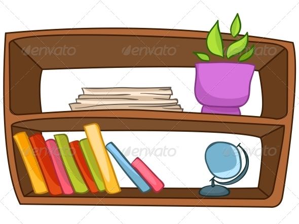 Cartoon Home Furniture Book Shelf - Miscellaneous Characters