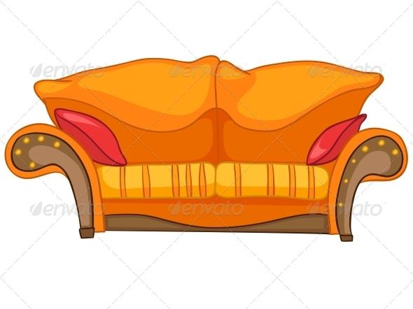 Cartoon Home Furniture Sofa - Miscellaneous Characters