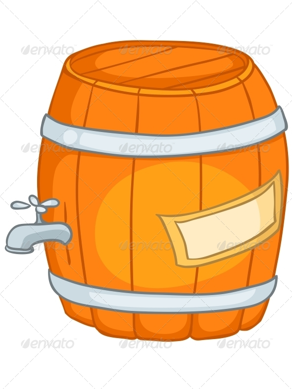 Cartoon Home Kitchen Barrel - Miscellaneous Characters