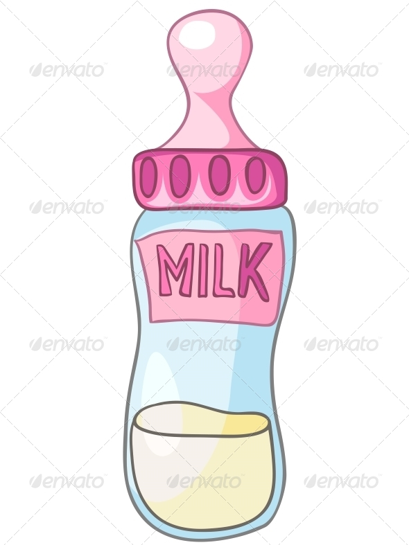 Cartoon Home Kitchen Milk Bottle - Miscellaneous Characters