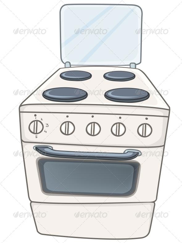 cartoon home kitchen stove by rastudio graphicriver