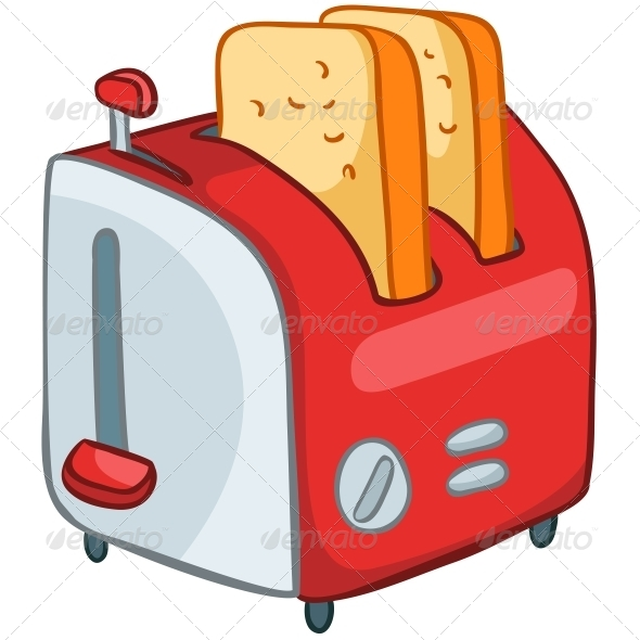 Cartoon Home Kitchen Toaster - Miscellaneous Characters