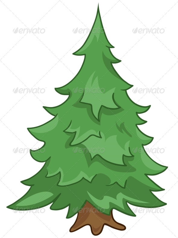 Cartoon Nature Tree Fir - Miscellaneous Characters