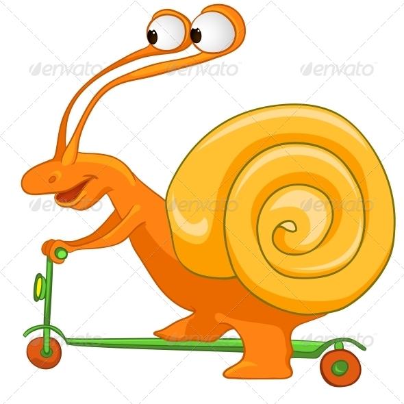 Cartoon Character Snail - Animals Characters