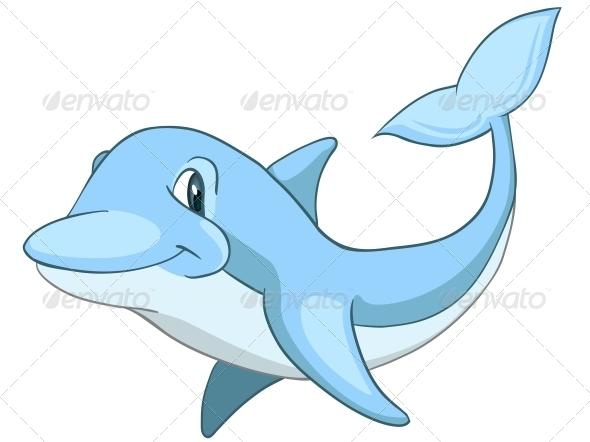 Cartoon Character Dolphin - Animals Characters