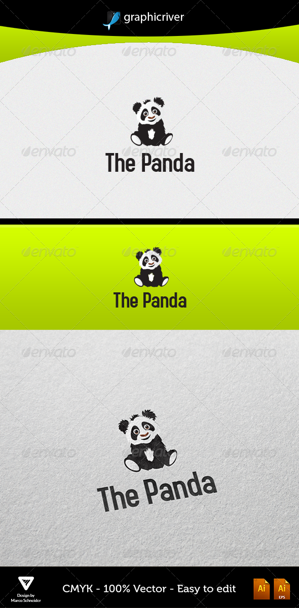 The Panda - Animals Logo Templates