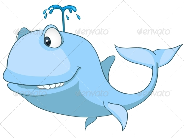 Cartoon Character Whale - Animals Characters