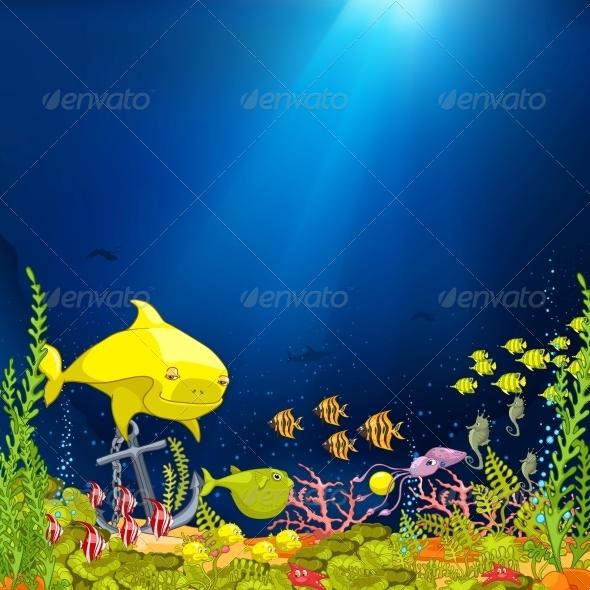 Ocean Underwater Cartoon - Animals Characters
