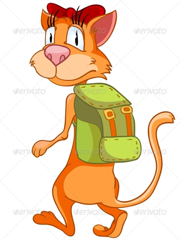 Cartoon Character Cat - Animals Characters