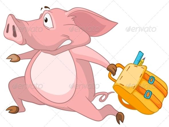 Cartoon Character Pig - Animals Characters