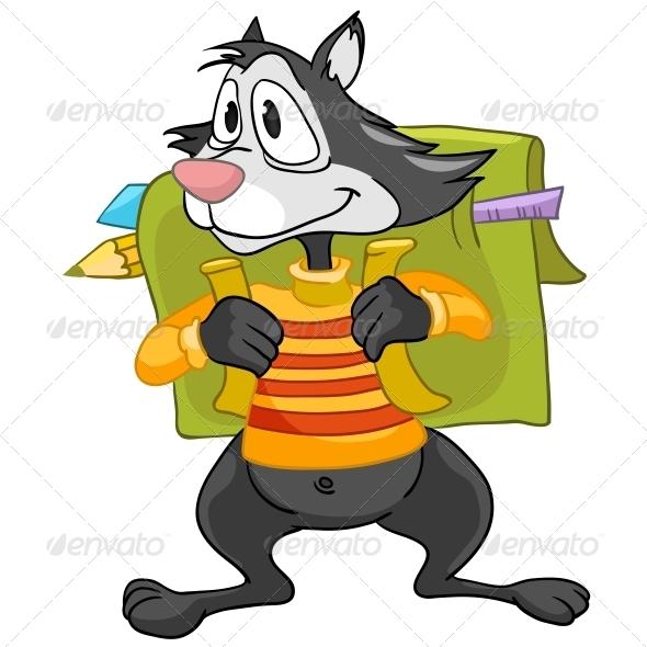 Cartoon Character Raccoon - Animals Characters