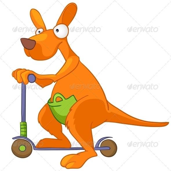 Cartoon Character Kangaroo - Animals Characters