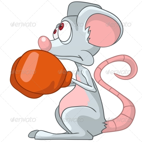 Cartoon Character Mouse Boxer - Animals Characters