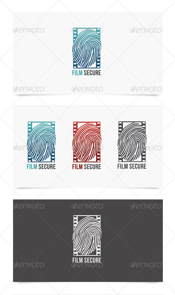 Film Secure - Objects Logo Templates