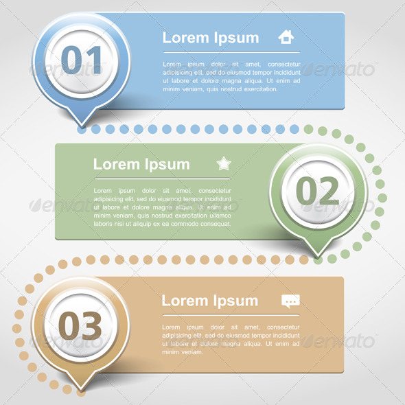 Design Template with Three Banners - Web Elements Vectors