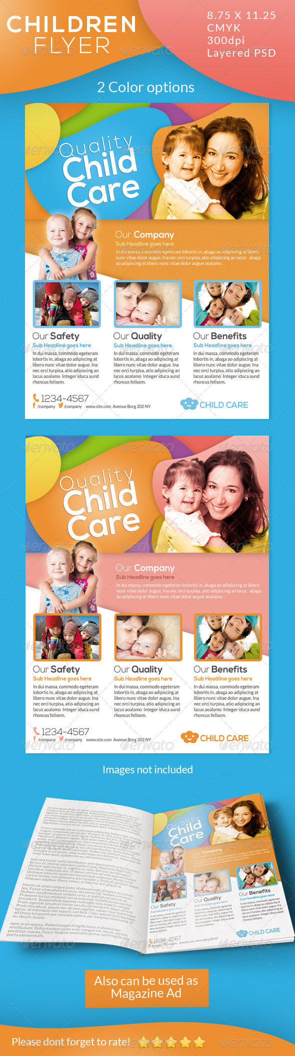 Children Care Flyer/ Magazine Ad - Corporate Flyers