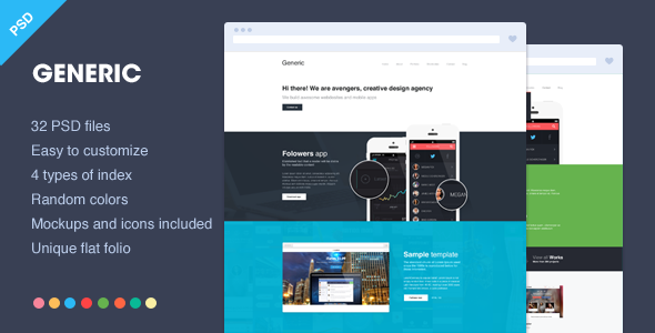 Generic – Unique flat PSD showcase