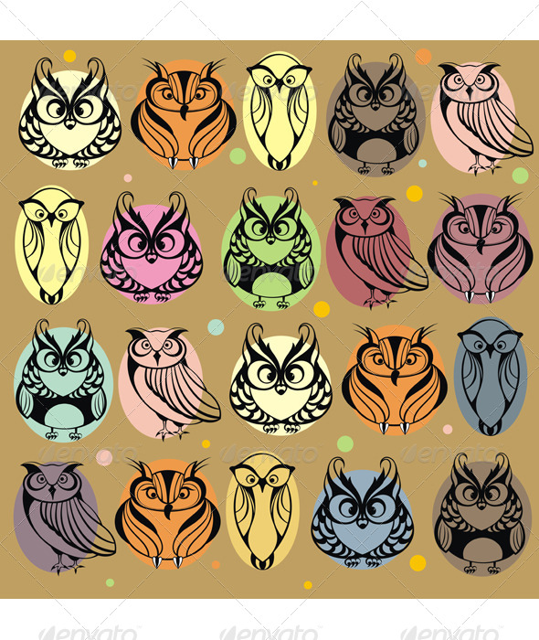 Owls - Animals Characters