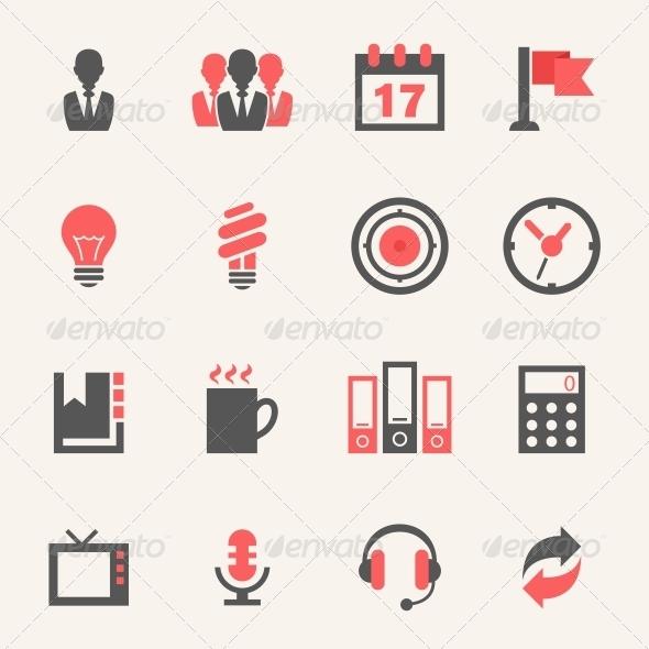 Business. Icon Set - Web Elements Vectors