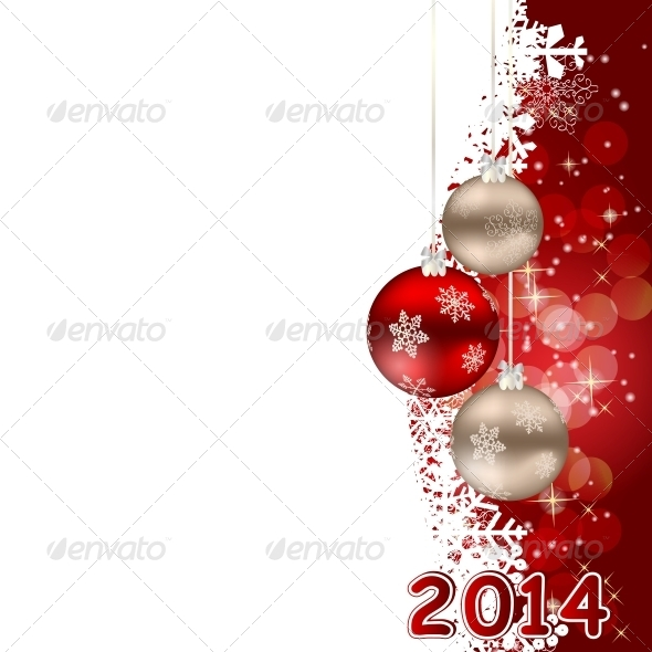 2014 Christmas and New Year Background. - Christmas Seasons/Holidays
