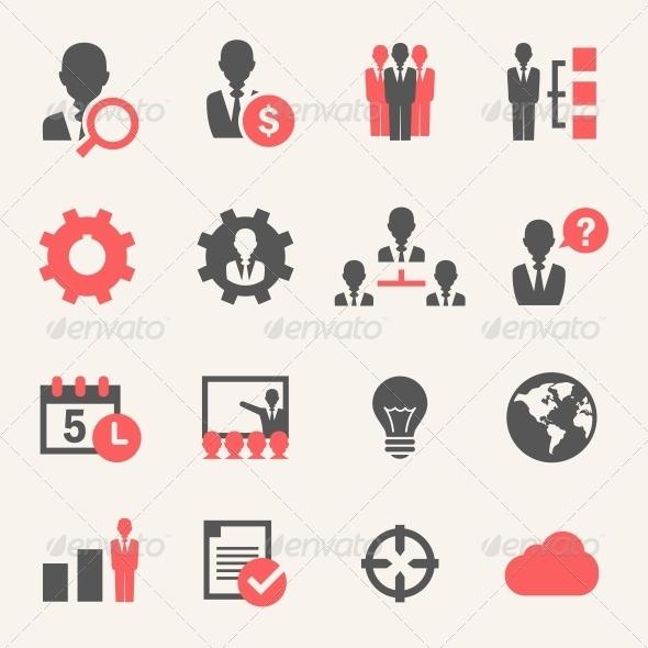 Internet Business. Icon set - Web Elements Vectors