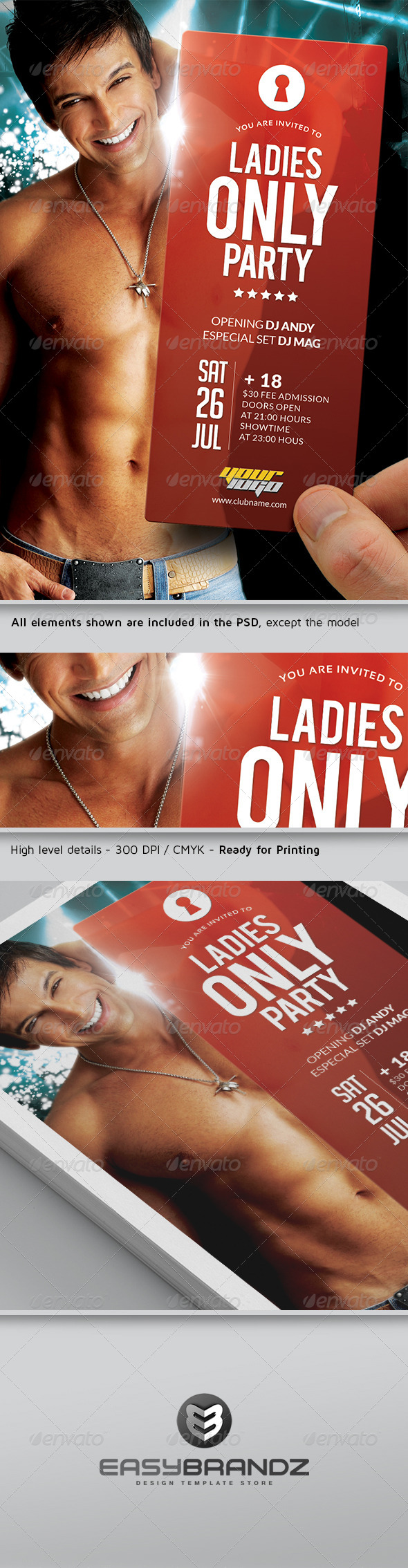 Ladies Only Flyer Template - Events Flyers