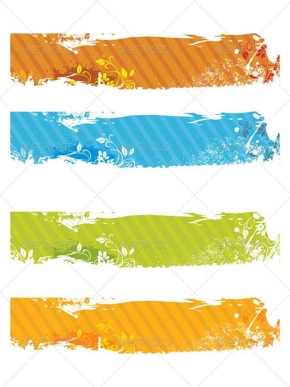 Grunge Banners  - Vectors