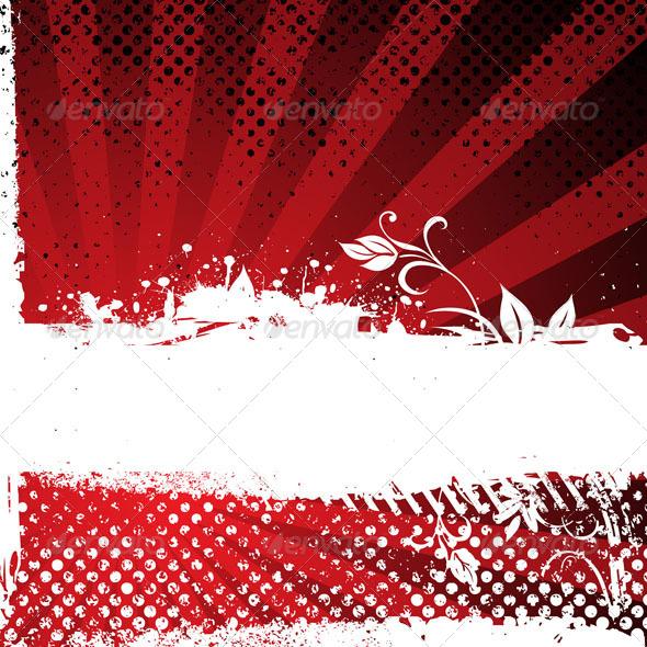 Abstract Grunge Banner - Vectors