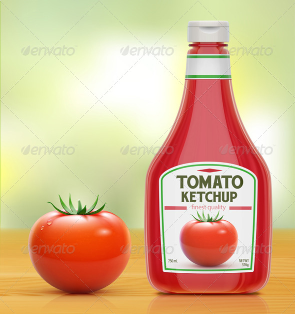 Ketchup Bottle  - Food Objects