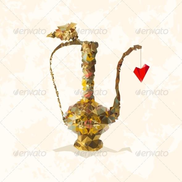 Teatime Card. - Backgrounds Decorative