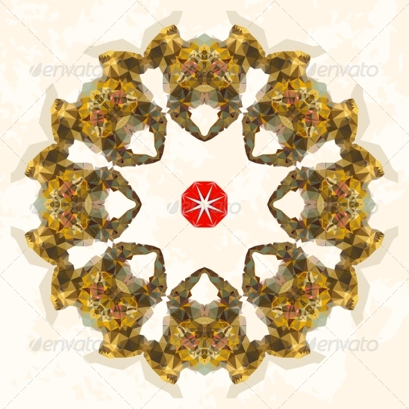 Ornamental Round Lace. Triangles Ornament - Backgrounds Decorative