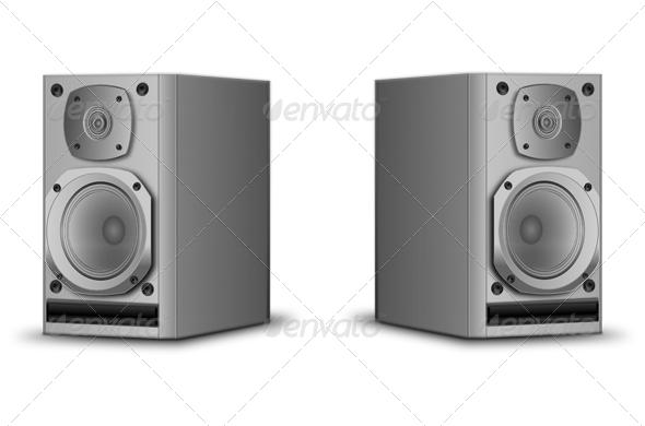 Hifi Speakers - Objects Vectors