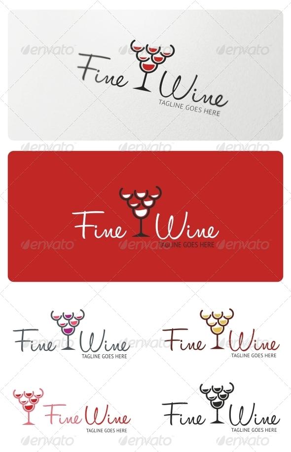 Fine Wine Logo Template - Symbols Logo Templates