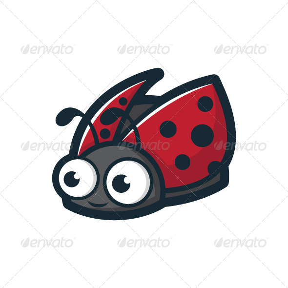Cute Ladybug Character - Animals Characters