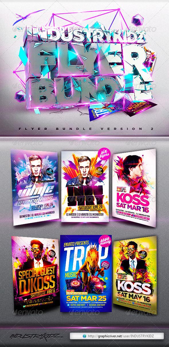 Electro Flyer Bundle - Clubs & Parties Events