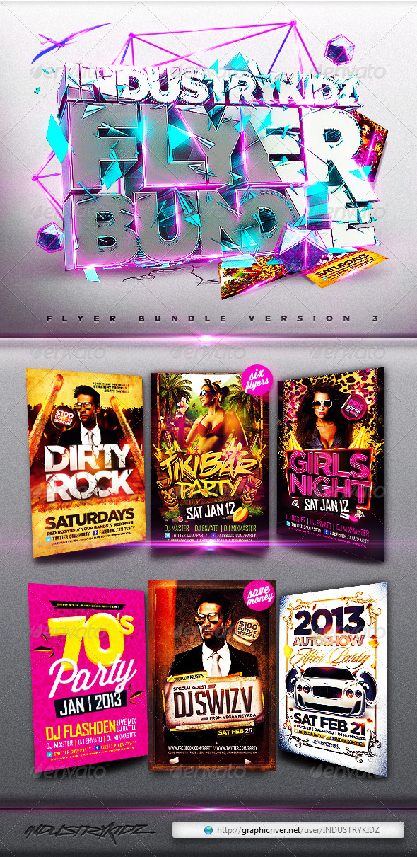 Flyer Bundle v3 - Clubs & Parties Events