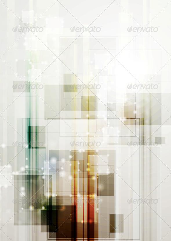 Modern Hi-Tech Vector Template - Backgrounds Decorative