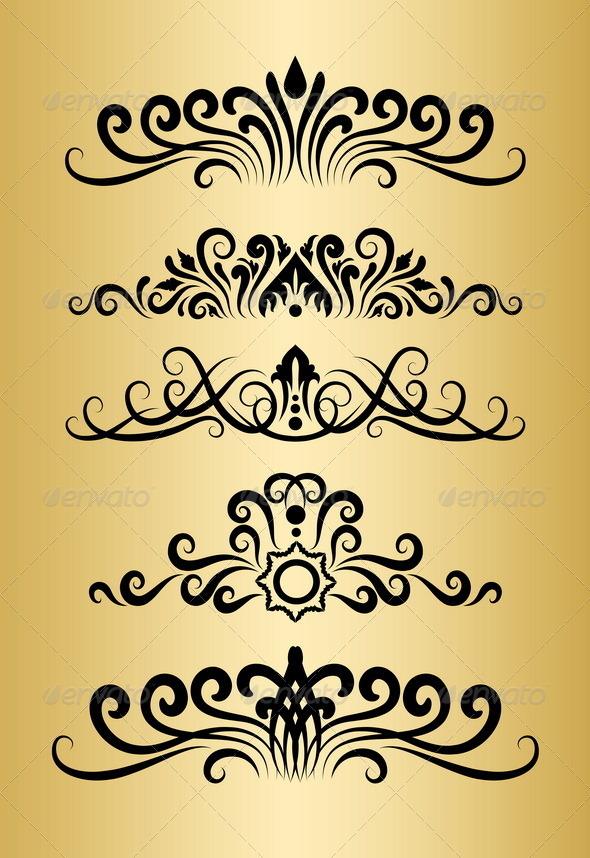 Floral Ornaments - Flourishes / Swirls Decorative