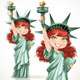 Girl Dressed as the Statue of Liberty  - GraphicRiver Item for Sale