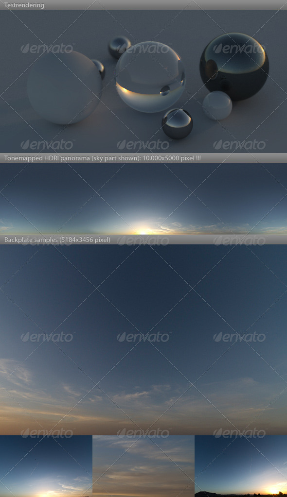 HDRI spherical sky panorama -1755- dusk twilight - 3DOcean Item for Sale